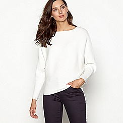 Principles - Ivory ribbed batwing sleeve jumper