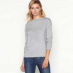 Principles - Grey ribbed batwing sleeve jumper