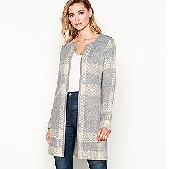 Principles - Grey checked coatigan