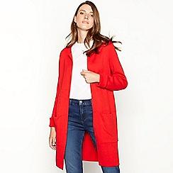 Principles - Red plain edge to egde cardigan