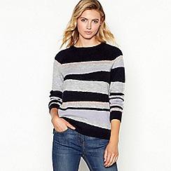 Principles - Navy metallic stripe sweater