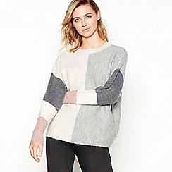 Principles - Grey colour block jumper