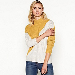 Principles - Gold diagonal stripe high neck sweater