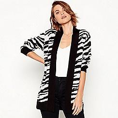Principles - Black zebra pattern coatigan