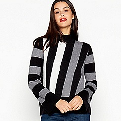 Principles - Grey Diagonal Stripe Flared Sleeve Jumper