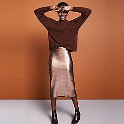 Principles - Dark tan chunky jumper