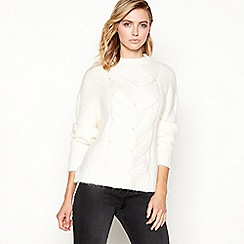 Principles - Ivory cable knit balloon sleeve jumper