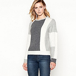 Principles - Grey patchwork dolman jumper