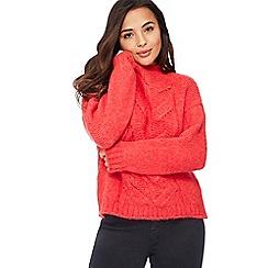 Principles Petite - Red Chunky Knit Petite Jumper