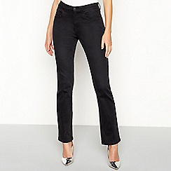 Principles - Near black cotton blend denim straight jeans