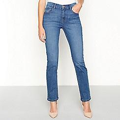 Principles - Dark blue cotton blend denim straight jeans