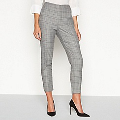 Principles - Grey checked print straight fit trousers