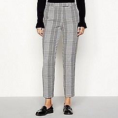 Principles - Grey check suit trousers