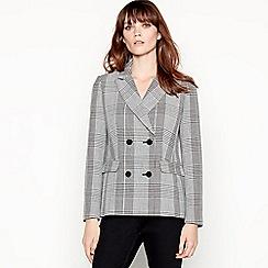 Principles - Grey Check Double-breasted Blazer