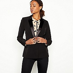 Principles - Black Satin-Trim Tuxedo Jacket