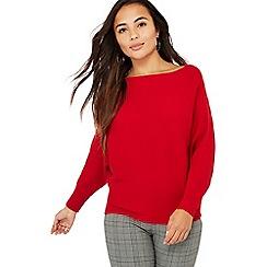 Principles Petite - Red ribbed batwing sleeve petite jumper