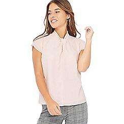 Principles Petite - Pink twist neck petite top