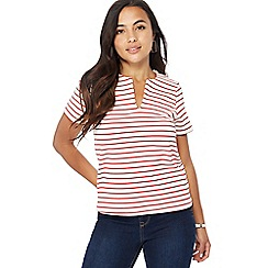Principles Petite - Red striped petite top