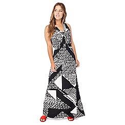 Principles Petite - Black printed petite maxi dress