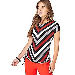 Principles - Multicoloured chevron print petite top