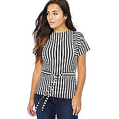 Principles Petite - Black striped petite T-shirt
