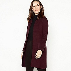 Principles - Wine Red Longline Petite Coatigan