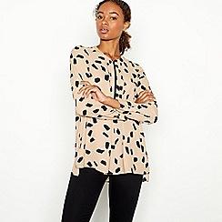 Principles - Camel Dalmatian Print Zip Top