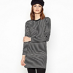 Principles - Navy Stripe Print Tunic Dress