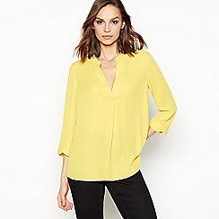 Principles - Yellow Scalloped Trim Utility Shirt