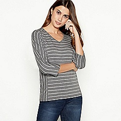 Principles - Grey stripe print top
