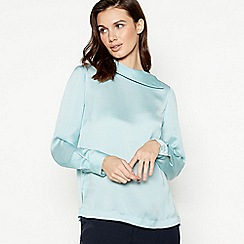 Principles - Light turquoise envelope neck top