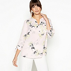 Principles - Light Pink Floral Print Shirt