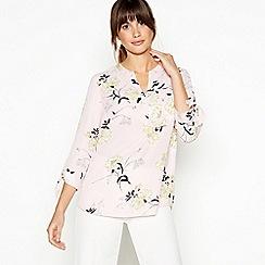 Principles - Light Pink Floral Print Shirt