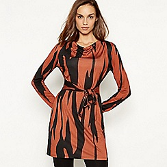 Principles - Tan zebra tunic dress