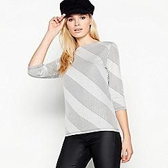 Principles - Grey stripe print top