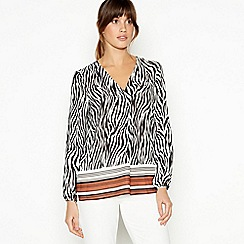 Principles - Multicoloured Zebra Print Shirt