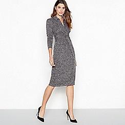 724bf0120032b Principles - Grey marl print twist front midi dress