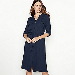 Principles - Navy utility shirt dress