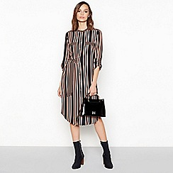 Principles - Black Stripe Print Shirt Dress