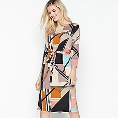 Principles - Multicoloured Abstract Print Knee Length Dress