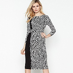 Principles - Multicoloured Zebra Print Twist Front Knee Length Dress