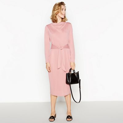 640e34fac Shoptagr | Pink Belted Midi Dress by Principles