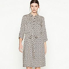 Principles - Natural Geometric Print Utility Shirt Dress