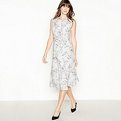 Principles - Ivory Floral midi Shift Dress