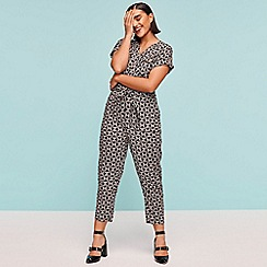 Principles - Black Geometric Print Jumpsuit