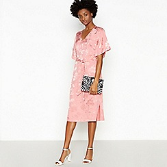 Principles - Rose Jacquard Rose Midi Dress