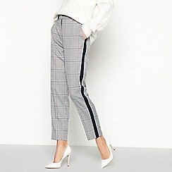 Principles - Grey Check Print Tailored Trousers