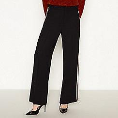 Principles - Black side stripe trousers