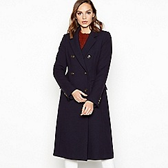 Principles - Navy Double Breasted 'City' Coat