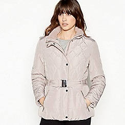 Principles - Pale Pink Belted Padded Coat